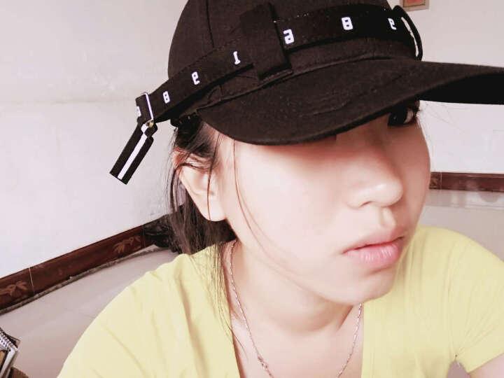 裴娅 帽子夏女生潮人百搭韩版休闲学生鸭舌棒球帽个性长带子纯色弯檐帽 白色 晒单图