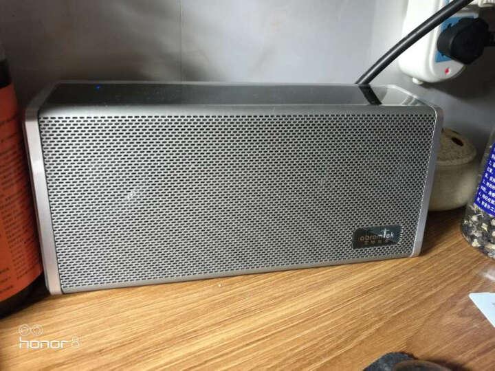 艾特铭客(AbramTek)诺曼底 E200S 无线4.2蓝牙音箱 金属插卡通话便携音响 立体声家居迷你低音炮 典雅黑 晒单图