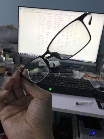 普莱斯(pulais)眼镜框男碳纤维全框近视防辐射眼镜架女6004 黑色(商家发货 配镜请联系客服) 晒单图