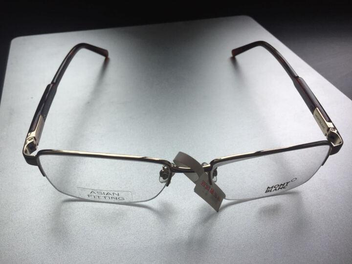 Montblanc 万宝龙 男款金色半框镜框玳瑁色镜腿光学眼镜架眼镜框MB635-F 028 57MM 晒单图