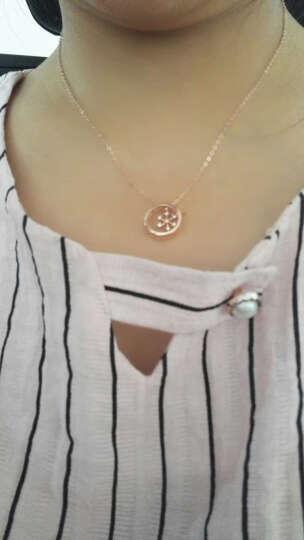 优纳福 意大利925银项链女银吊坠银锁骨链个性时尚首饰品 唯美雪花 七夕女友的礼物 玫瑰金 晒单图