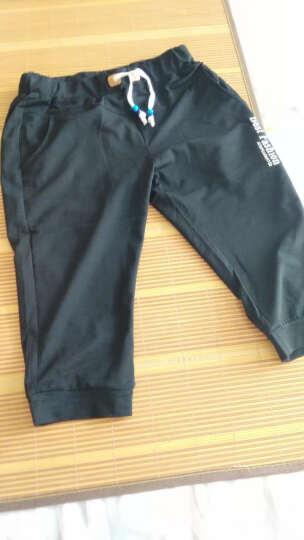 劲洋短裤男夏天男士运动修身七分休闲中裤男款男生马裤 灰色 XL(建议拍大一码) 晒单图