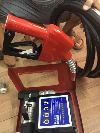 力尚龙大流量车载加油机 稳定计量柴油加油机 加油泵 液体灌装机220V12V24V高速抽油 12V高速计量加油机配自动跳枪 晒单图