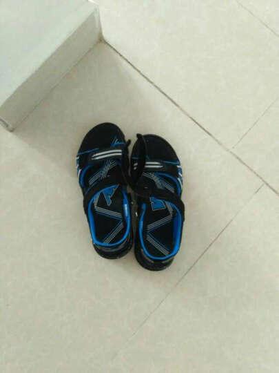 开心米奇 童鞋儿童运动凉鞋 沙滩鞋凉鞋男童鞋中大童儿童鞋 F18726736  黑宝蓝 35码 晒单图