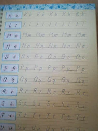 墨点练字宝手写印刷体学生英语字母练习字帖漂亮英文速成凹槽练字神器单词短语书写练字帖郭书宁神 晒单图