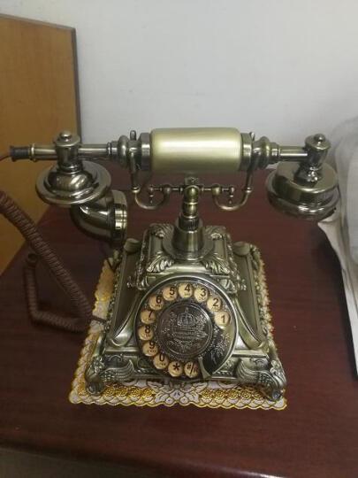 金顺迪 JSD003 仿古电话机复古老式欧式电话家用座机 无线插卡电话机电信移动固话座机 古铜色旋转拨号款(机械双铃声)接电话线 晒单图