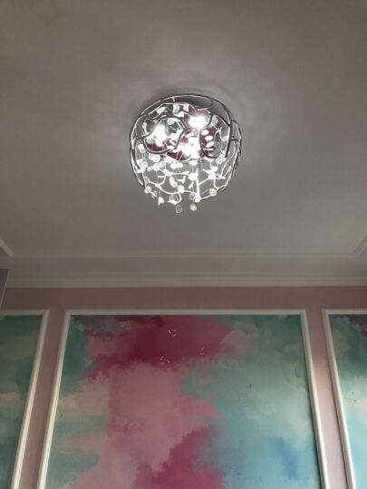 尚层(SanCun) 灯具 客厅 简约现代大气客厅灯家用led吸顶灯创意新款卧室水晶灯全屋灯具套餐 简约款 - 直径 80cm- LED暖光60瓦 晒单图