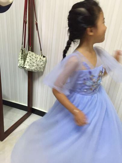 2019夏装儿童长款优雅蓝色女童礼服裙长裙公主裙钢琴表演服花童婚纱裙主持人演出服装小女孩 蓝色 150码(适合身高145-155cm) 晒单图