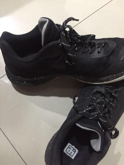 艾弗森 篮球鞋 男低帮2017新品夏季水泥地耐磨男学生运动鞋轻质透气战靴 黑/白 42 晒单图