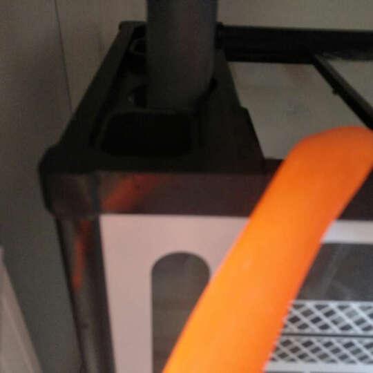 森森 水族箱底过滤金鱼缸生态缸中型超白圆弧玻璃鱼缸隔断 酒红色 超白圆弧1.0米36宽屏风款 晒单图