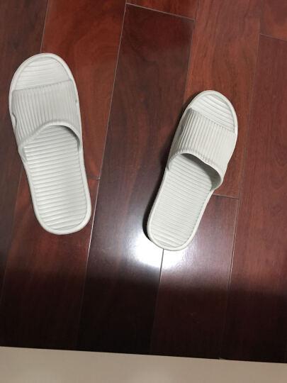 朴西 新款家居凉拖鞋夏天女士居家洗浴拖鞋男软底塑料浴室拖鞋 灰色 43-44(建议42-43) 晒单图