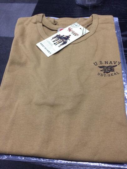 同盟军(UNION ARMY) 同盟军户外军迷短袖t恤 弹力紧身海豹突击队T恤男夏装体能服 沙色 XXL 晒单图