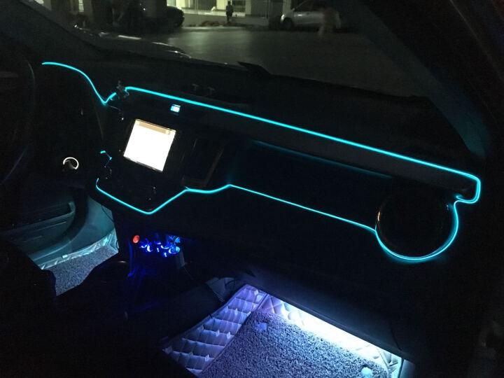 慕菲斯汽车氛围灯车内EL冷光线发光条汽车装饰灯带边夹式汽车LED装饰灯带发光条免改装 妖艳红 8米带驱动 晒单图