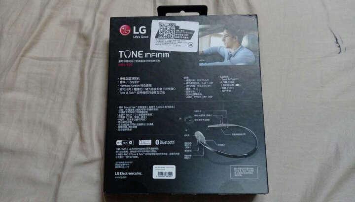 LG HBS-900 蓝牙耳机 运动耳机 手机耳机 项圈入耳式 Harman Kardon音频技术 可通话 红色 晒单图