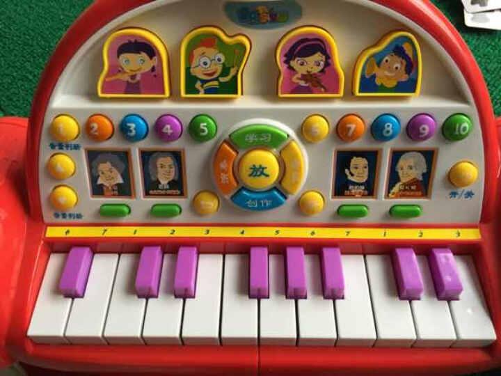 宝丽 音乐太空船玩具电子琴 可录音 弹奏 游戏 学习 演奏 考试多功能电子琴3020 晒单图