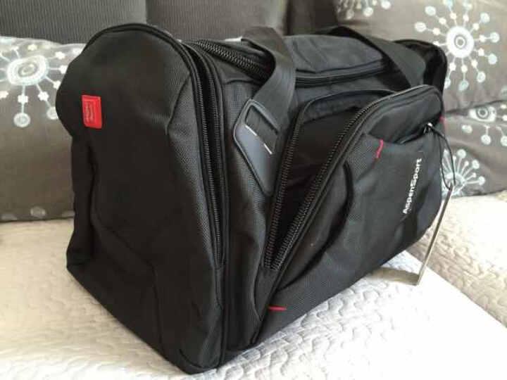 【品牌直营 限时特惠】艾奔大容量防水行李袋短途出差旅行包 男士商务手提行李包健身包 黑色 22英寸 晒单图