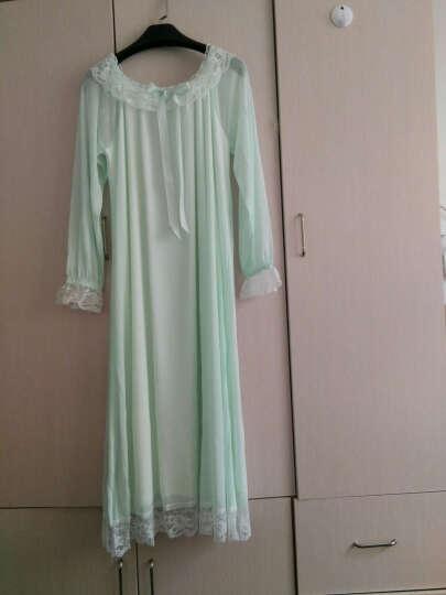 海慕斯 春夏季睡裙女蕾丝公主性感睡衣莫代尔睡袍长袖甜美可爱薄款宫廷风家居服 长袖睡裙款(白色) M(90-105)斤 晒单图