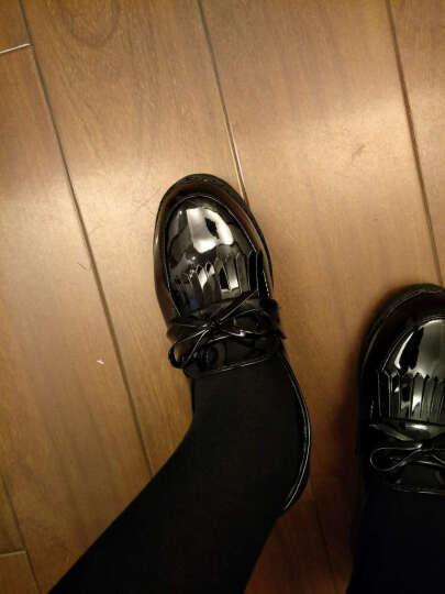 QQQ夏尔维纳JK制服鞋 cos 万用鞋子制服学生女鞋 cosplay日本动漫鞋女-AB1 酒红888 39 晒单图
