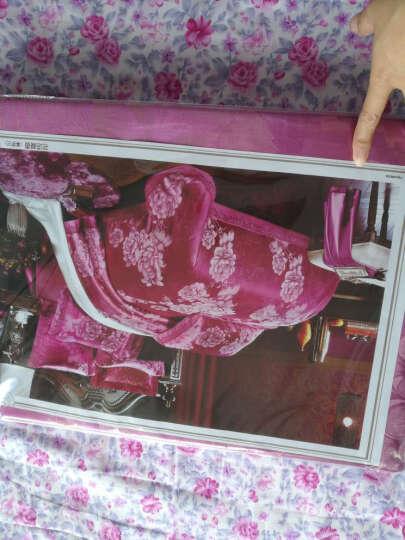 欧梦舒家纺 莫代尔大提花四件套全棉贡缎提花欧式刺绣花婚庆大红fEDMJf7B5w 塞纳舞曲 2.0米床被套220*240cm 晒单图