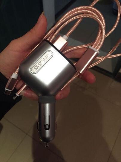 先科(SAST)车载充电器 车充点烟器 AY-T60 一拖三USB 电压检测LED数显 象牙白 晒单图