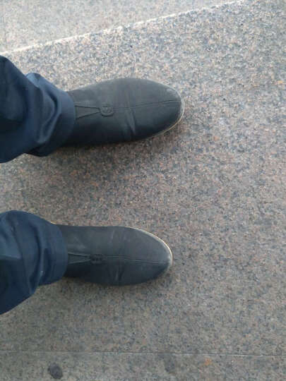武将 老北京布鞋男传统乐福鞋懒人鞋男鞋韩版潮流印花四季运动布鞋飞织鞋 黑色 41 晒单图
