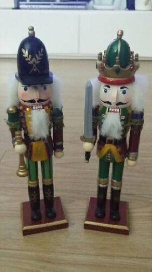 圣诞礼物 胡桃夹子 兵国王士兵木偶木头人偶 家居装饰 摆件 工艺礼品 敲鼓兵30cm 晒单图