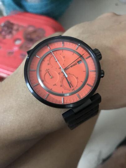 三宅一生(ISSEY MIYAKE)手表男款43mm橙表盘不锈钢带石英时尚商务男士手表和田智 SILAY005 晒单图