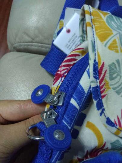 Kipling凯浦林女包双肩包小清新尼龙女斜挎包背包K12887 蓝色迷彩狗印花 晒单图