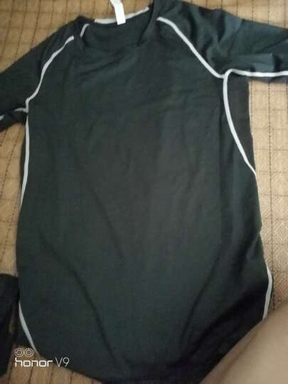 范斯蒂克健身服男士运动套装夏季短袖紧身衣弹力速干透气跑步篮球服套装健身房训练 短袖三件套 TC0208 L 晒单图