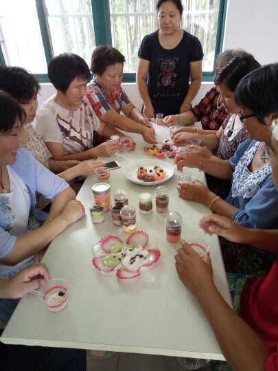 【展艺木糠杯5/15只】布丁 杯子 冰淇淋 慕斯杯 双皮奶甜品透明 塑料 一次性 带盖 红色圆点蕾丝 晒单图