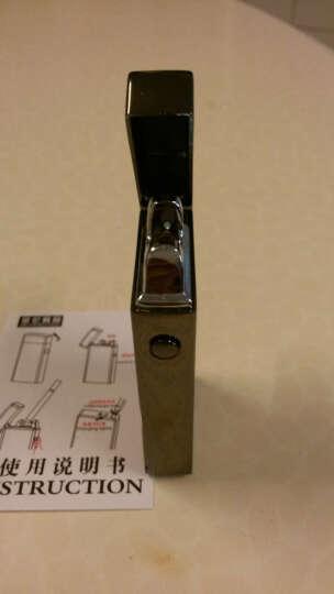 606电子usb充电打火机双电弧激光脉冲防风创意个性女男士薄点烟器 红木纹 晒单图