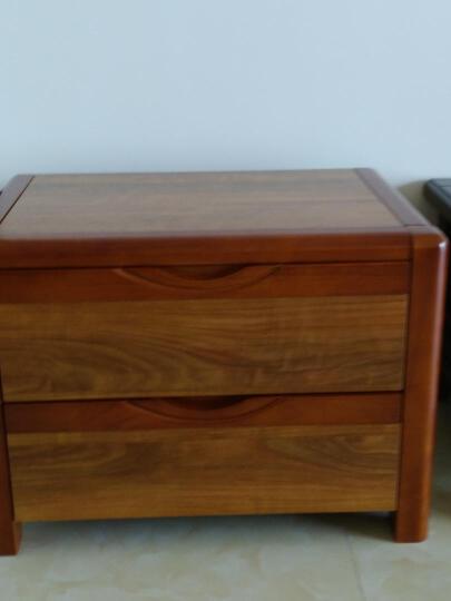 LAGO 床头柜 实木床头柜 家具中式储物柜 收纳柜 卧室床边柜 D6B01 床头柜*1 晒单图