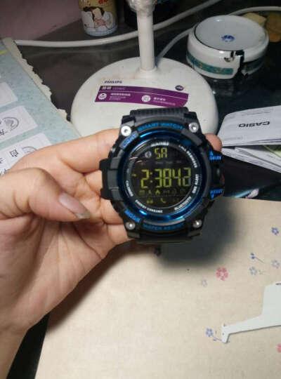 时刻美 skmei 智能手表男士运动表多功能学生跑步蓝牙电子表 1227蓝色 晒单图
