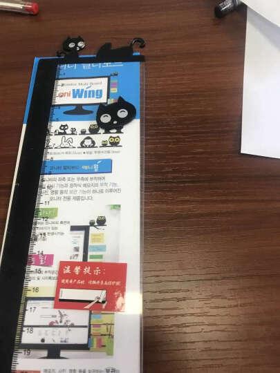 家英办公桌面可爱卡通电脑显示器屏幕透明留言板 亚克力便签贴板 猫 晒单图