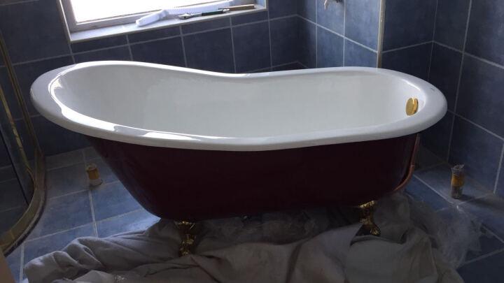 CHNKB实心高品质铸铁浴缸欧式古典贵妃缸独立式双层保温缸浴盆 1.7米 晒单图