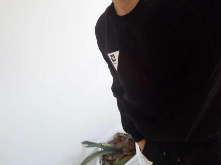 由蒙运动套装男士2018秋冬季运动服休闲卫衣男boy套头衫篮球服饰健身跑步足球服 酒红色 2XL/180 晒单图