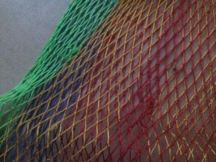 靓康 鱼护钓鱼黑坑鱼护手工编织尼龙线防挂鱼护超大超宽黑大坑渔护 网兜渔具新款加厚 彩色加厚款40*3米 晒单图