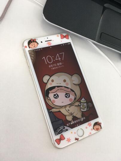 【买二送一】今首为 苹果6s钢化膜卡通彩膜3D全屏覆盖防指纹iPhone6plus手机膜女 6plus-5.5英寸-蝴蝶丸子 晒单图