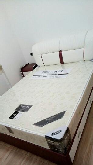 kay时代 皮床  三抽屉榻榻米 1.8米 真皮床 双人床 婚床 867 蓝+白--左边柜 1.5*1.9米+椰棕床垫+1柜 晒单图
