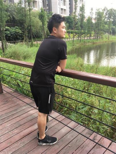 透明风健身服男女运动套装紧身衣跑步服速干T恤j款短袖紧身裤 103短袖紧身衣两件套/灰 L 晒单图