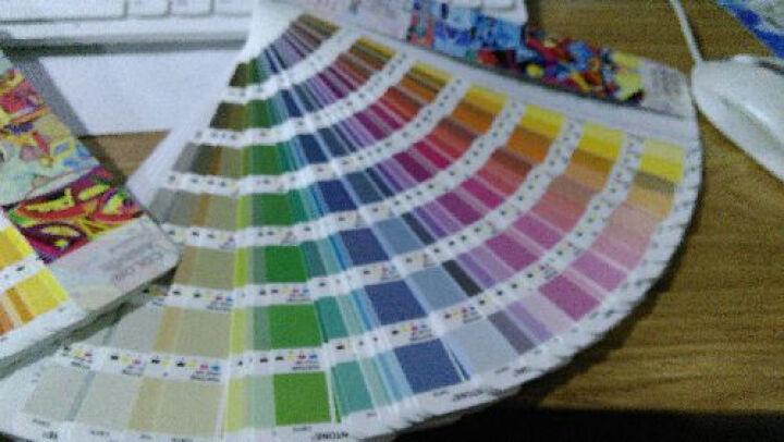PANTONE彩通 色彩桥梁CU卡专色四色对照色卡 CMYK色卡GP5102/6102 晒单图