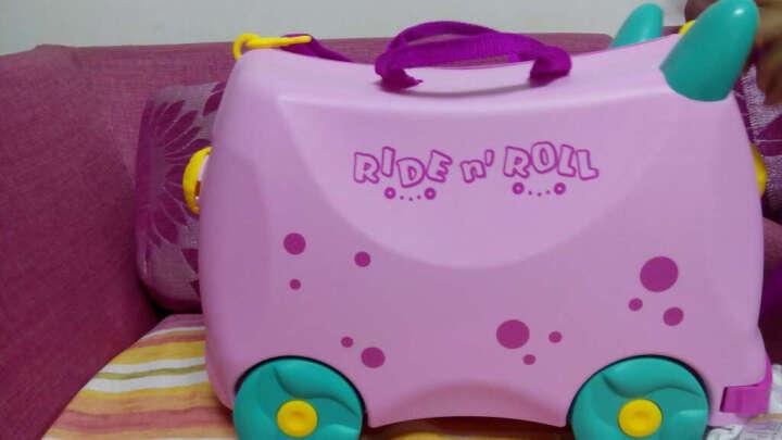 KO SHENG 儿童骑行旅行箱行李箱收纳箱 拖拉玩具学步车可骑坐登机箱包 10036懒懒猪 粉红色 晒单图