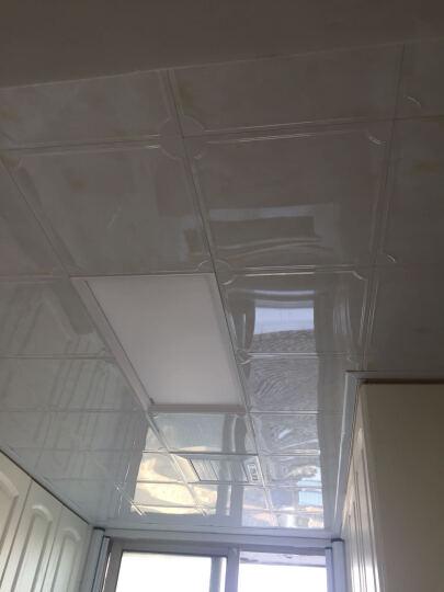 纳韦斯集成吊顶LED灯铝扣板面板灯厨卫天花灯嵌入式平板灯 斜切边24w(白)适用15㎡内 晒单图