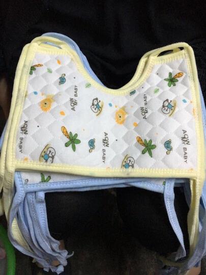 【三个起免邮】婴儿生态棉口水巾围嘴围兜 防水围嘴 黄色(三个起拍) 3条装(买三送一) 晒单图