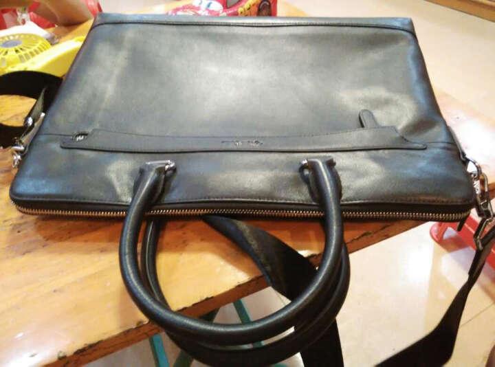 美洲野牛公文包真皮男包手提包头层牛皮男士皮包包单肩电脑包商务包公务包 竖款N2629-2B 晒单图