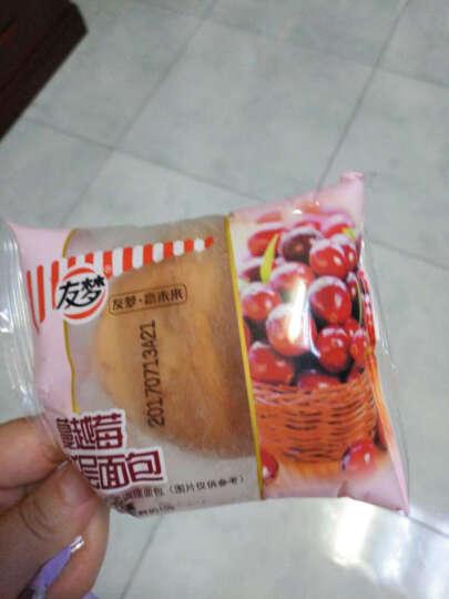 友梦 早餐小面包食品办公室下午茶糕点蔓越莓/提子水果面包750g 提子面包 晒单图