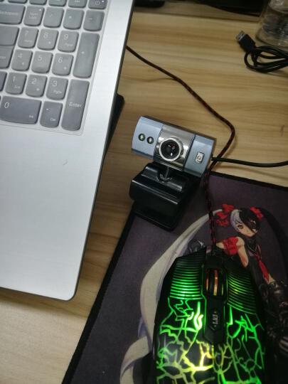 捷升 电脑摄像头台式机笔记本外置USB 高清夜视网络视频通话镜头 带麦克风 时尚银 晒单图