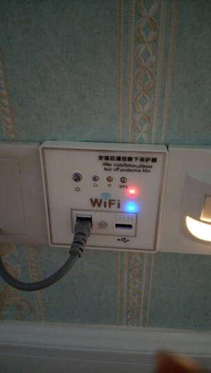 MOOV 智能家居86型AP墙壁式wifi路由器插座面板USB无线中继300M路由器酒店 白色 晒单图