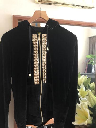 VERSACE范思哲女士针织开襟衫连帽卫衣B6H0A764-36159 89 黑色 S 晒单图