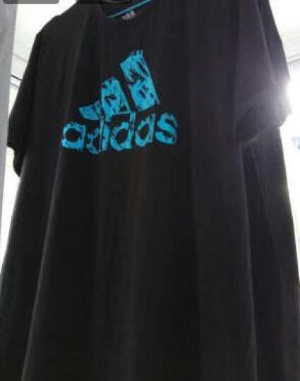 阿迪达斯Adidas男装短袖T恤2020官网新款透气舒适男子运动休闲短袖Tee 小logo-黑/白  2XL 晒单图